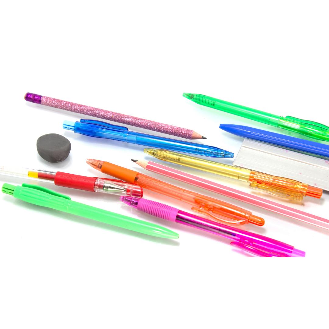 Bolígrafos, lápices